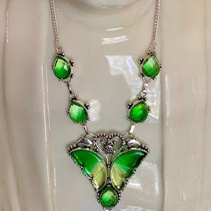 Tourmaline Butterfly Necklace